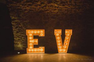 Illuminated letters at Castell d'Empordà - Giant wooden letters from BCN LETTERS