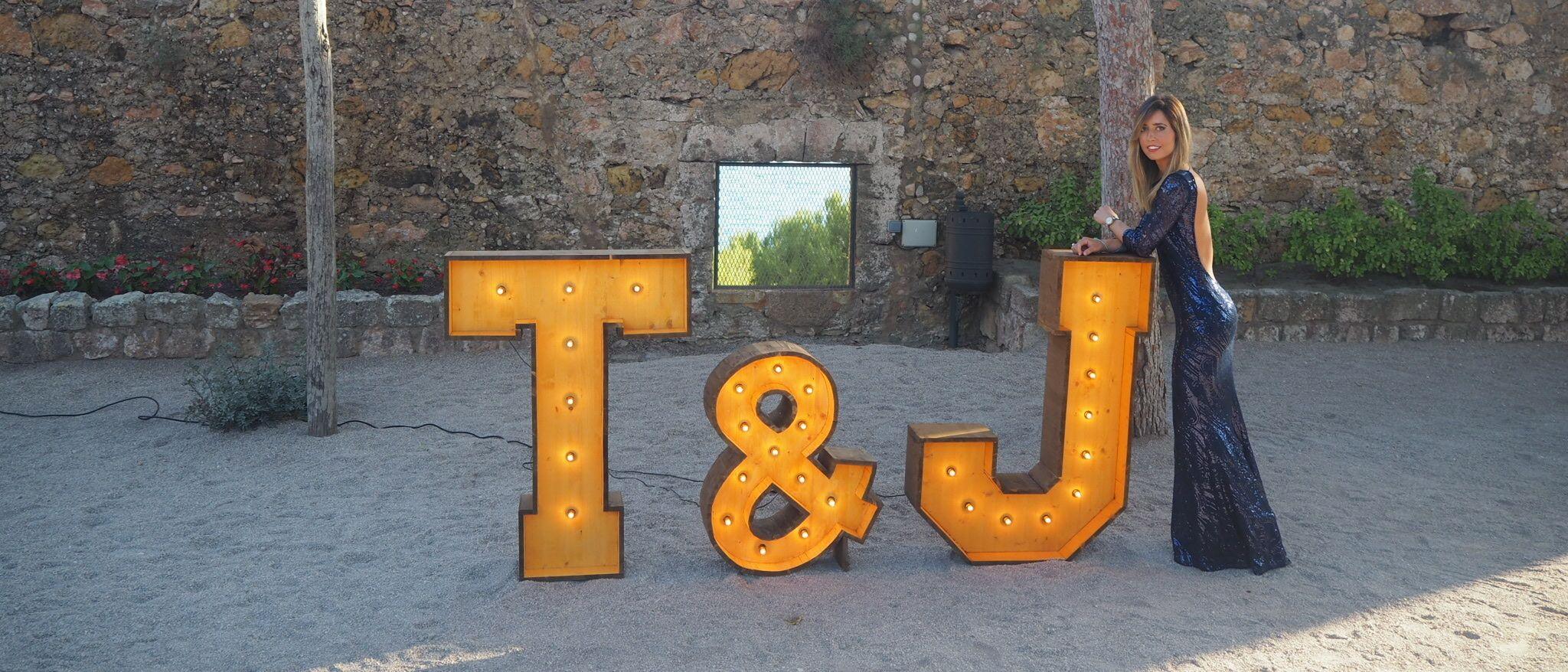 alquiler y venta de letras en Barcelona para bodas y eventos BCN LETTERS