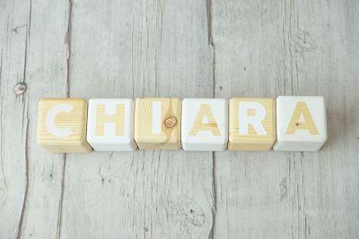 Cubos de madera con letras- Nombres bebé