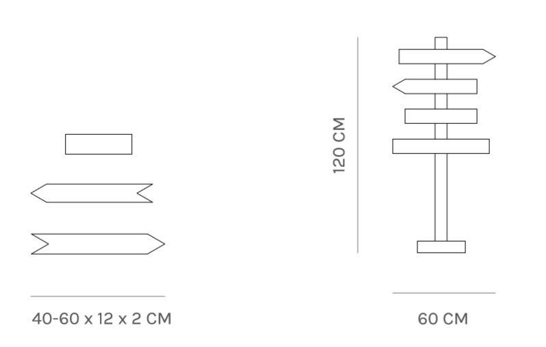 Flechas de madera para bodas y eventos de alquiler y venta - BCN LETTERS