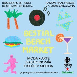 Alquiler de letras luminosas para el Bestial Beach Market del 17 de junio de 2018 - BCN LETTERS