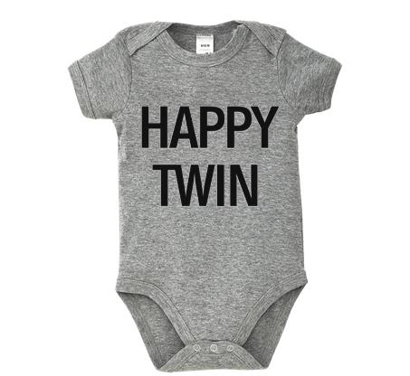 Body bebé - HAPPY TWIN de TWINS by BCN LETTERS