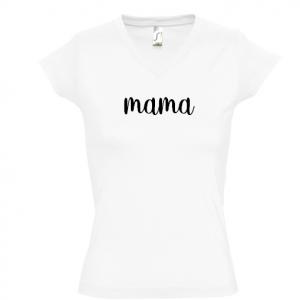 Camiseta mama para mamás - Cuello pico