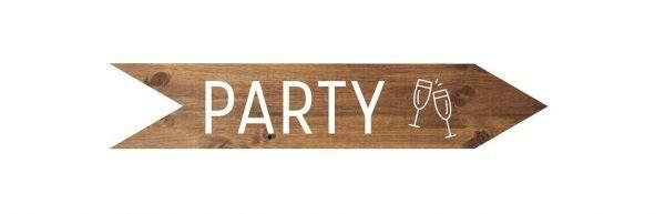 Flecha de madera Party para bodas, cumpleaños y eventos de madera - BCN LETTERS