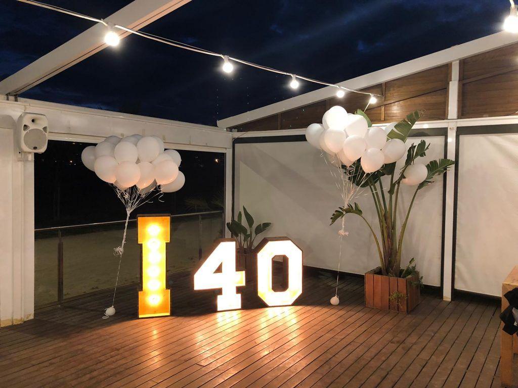 LLOGUER DE NUMEROS AMB LLUM PER ANIVERSARI 40 ANYS - BCN LETTERS