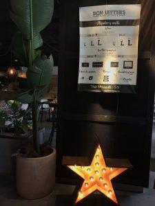 Estrellas, números y letras de alquiler BCN LETTERS en LABARRA de Barcelona