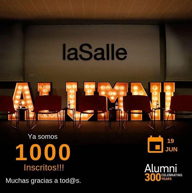 Alquiler de letras luminosas para evento ALUMNI 300 de La Salle Barcelona - BCN LETTERS