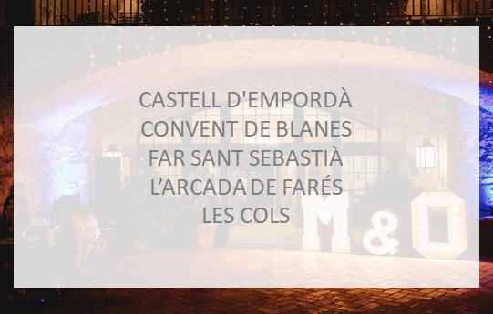 Packs de letras para Bodas luminosas de madera gigantes en alquiler en Barcelona y Costa Brava