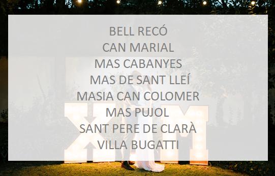 Letras de alquiler para bodas de madera gigantes Luminosas en el Maresme Barcelona