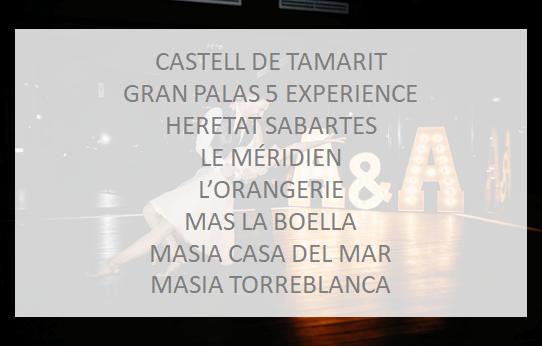 Letras luminosas de alquiler en Hoteles de Lujo para decorar Bodas en Barcelona, Girona, Lleida y Tarragona