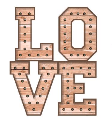 alquiler de letras LOVE para bodas