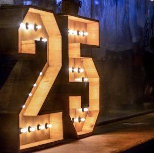 Números luminosos para cumpleaños y eventos de alquiler - BCN LETTERS
