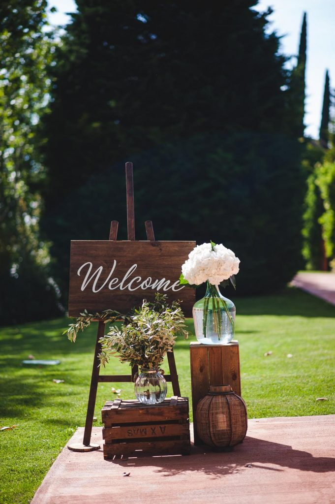 cartel bienvenida boda de alquiler - BCN LETTERS
