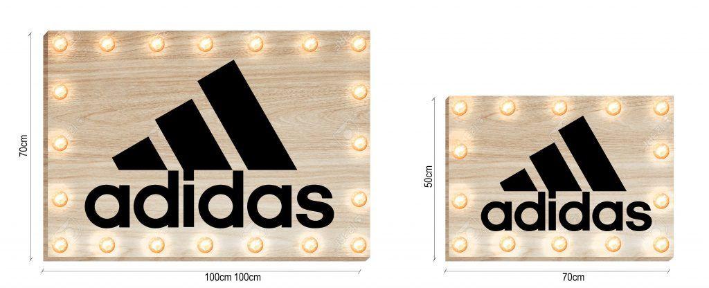 Cartel luminoso personalizado de madera