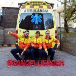 Letras luminosas para la campaña SANGFLUENCER - BARCELONA