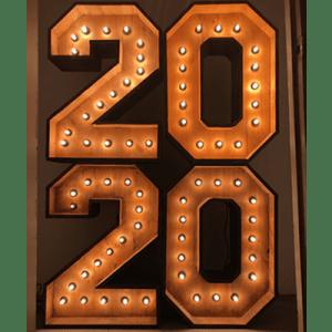 Alquiler de números luminosos para fin de año