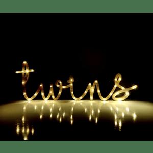 Nombre de madera luminoso - TWINS BCN LETTERS