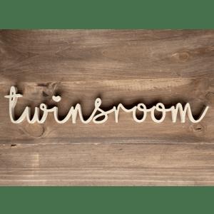 Nombre de madera MDF TWINSROOM - HABITACIÓN BEBÉ