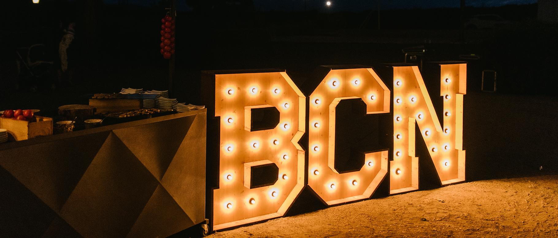Alquiler de letras luminosas para eventos Barcelona - BCN LETTERS