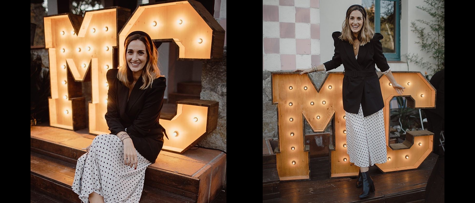 Alquiler letras Luminosas Barcelona BCNLETTERS para evento novias de Miss Cavallier