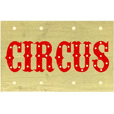 Alquiler Cartel luminoso Circus para cumpleaños Barcelona - BCN LETTERS