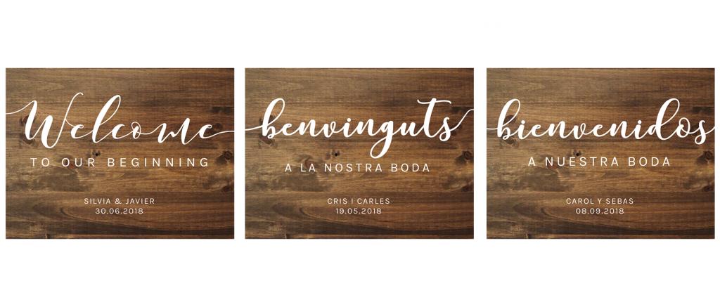Carteles de bienvenida personalizados - BODAS Y EVENTOS BARCELONA