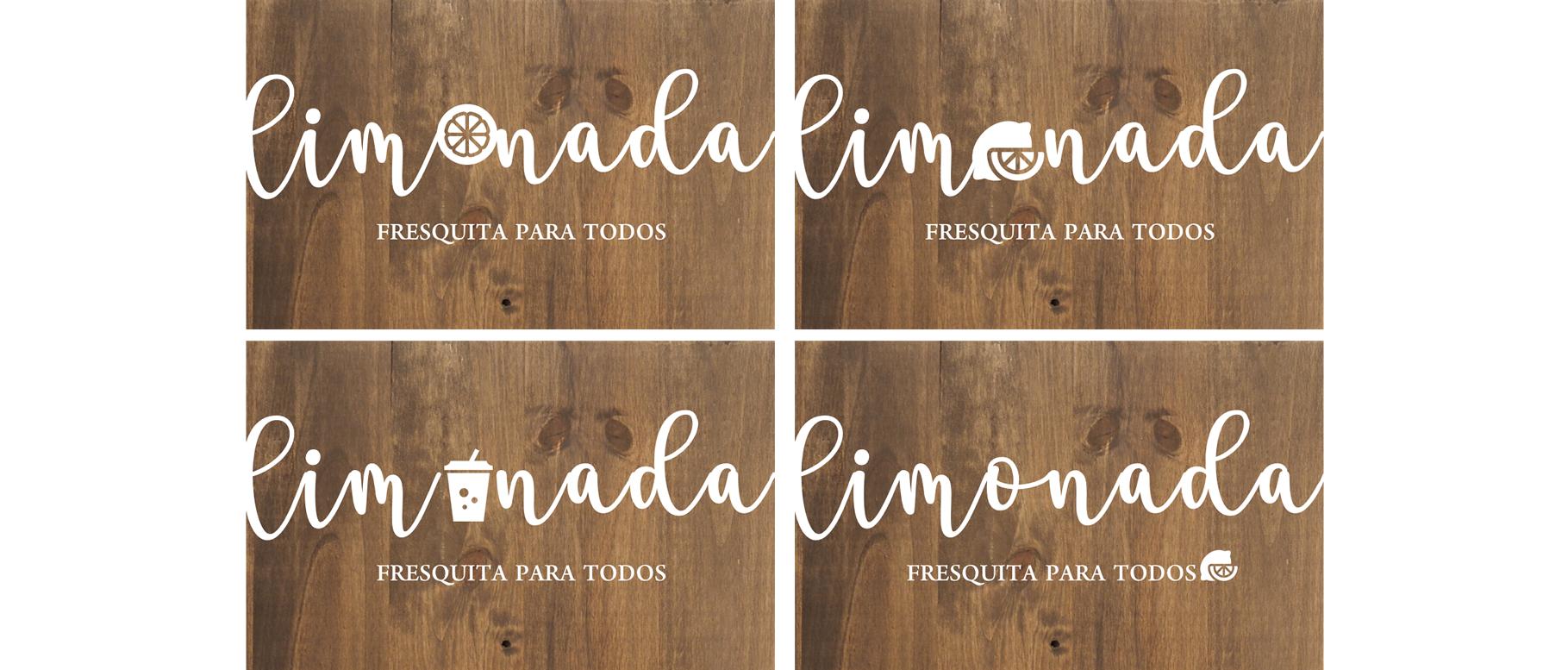 Cartel de madera Limonada Food Corners boda aperitivo eventos - BCNLETTERS