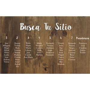 Cartel Busca Tu Sitio Seating Plan Boda - BARCELONA - BCN LETTERS