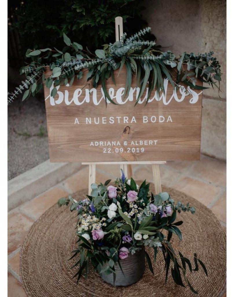 Cartel de madera de bienvenida para bodas personalizado - BCN LETTERS