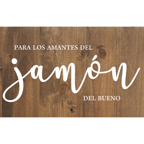 Cartel de madera Jamón para Bodas y Eventos Barcelona - BCN LETTERS