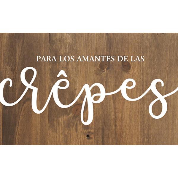 Cartel de madera Crepes Candy Bar para Bodas y Eventos Barcelona - BCN LETTERS
