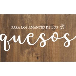 Cartel de madera Quesos Aperitivo para Bodas y Eventos Barcelona - BCN LETTERS