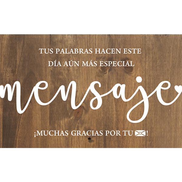 Cartel de madera LIBRO DE FIRMAS para Bodas y Eventos Barcelona Mensaje - BCN LETTERS