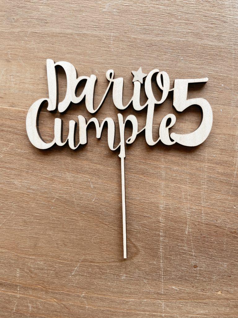 Cake topper fusta casament aniversari primera comunió Barcelona número