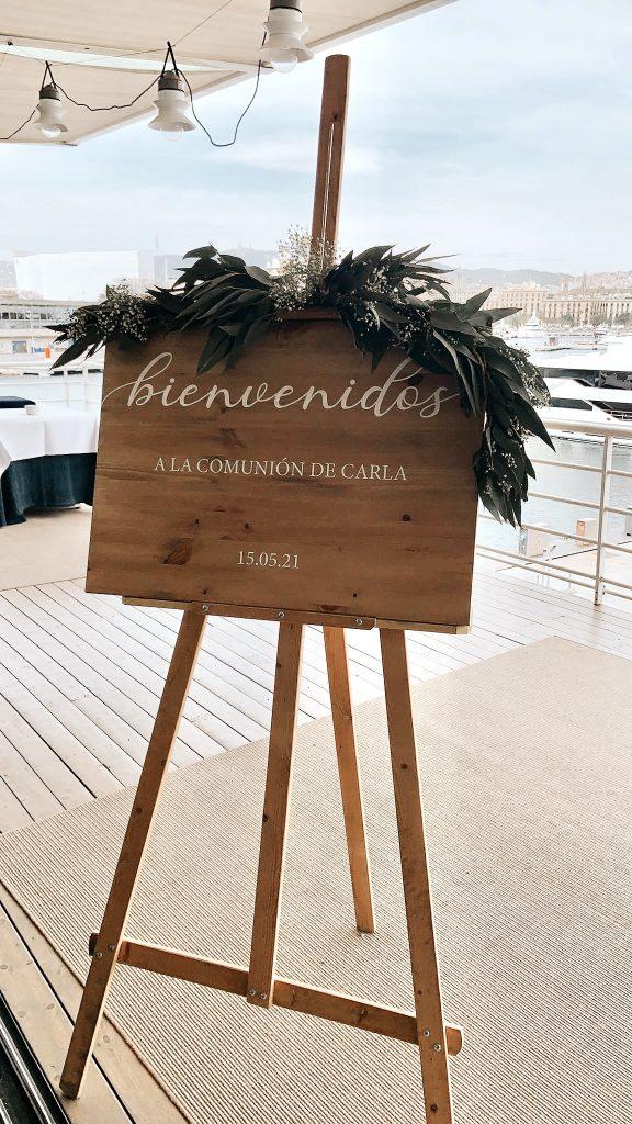 Carteles bienvenida cumpleaños bodas comunion bautizo personalizado madera nombre - bcn letters